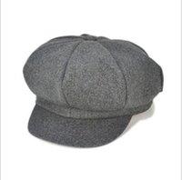 Wholesale Big Muff - Flat cap Newborn photography props baby boy hats beret big brim bonnet baby cap for girls 1- 5 years