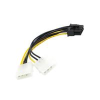 tarjeta de video msi al por mayor-Al por mayor-CY Dual Molex 4pin IDE a 8 pines Cable de alimentación PCI-E para MSI VGA Video Tarjeta gráfica