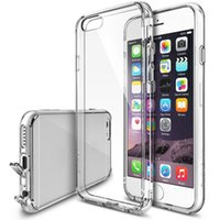 Wholesale Tpu Smartphone Case - Dust plug Crystal Bumper Premium Clear Tpu Case for IPhone 6 6s 6 plus 6s plus Smartphone Back Skin Usb Port Cover Protector