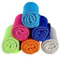 Wholesale blue cold hands - Cold Towel 100x30cm cooling Towel Exercise Sweat Summer Sports Ice Cool Towel PVA Hypothermia Cooling Towel mix Single layer