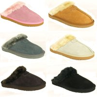 Wholesale Women Flat Slipper Boots - warm Warm cotton slippers Men And Womens slippers Short Boots Women's boots Snow boots Brand Designer Indoor cotton slippers Leather boots