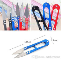 Wholesale Best Color Kitchens - cross stitch type U small scissors sewing thread spring yarn scissors Color scissors useful tool for kitchen or family best