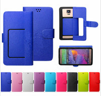 zte brieftasche großhandel-Für Galaxy S8 Universal Wallet PU Flip Ledertasche Kreditkarten Slot Folio Abdeckung für 3.5 4.7 5.5 5.7 iPhone 7 Samsung LG Huawei ZTE