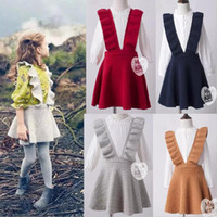 Wholesale Wholesale Wool Skirts - In stock 4 color INS styles new arrival Girl cotton knitted solid color Knitted skirt spring autumn high quality cotton Wool suspender skirt