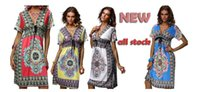 Wholesale Sexy Size 18 Dresses - 2016 18 colors plus size S-XXL summer Printing   dyeing new deep v-neck peacock bohemia long beach dress sexy casual maxi dress