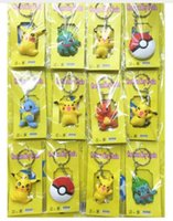 Wholesale elf movie gifts for sale - Group buy New sets set Cartoon Anime Pocket Monsters Pikachu Elf PVC Keychain Pendant Figure Model Key Chain For Best Gift