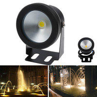 Wholesale Underwater Lighting Ac Dc - 10W Waterproof IP68 LED Underwater Spotlights AC DC 12V Lighting Hot Sale Black Cover Cool White  Warm White
