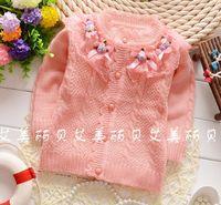 Wholesale Girls Cardigan Retail - retail 2016 autumn winter kids clothes infant baby girls sweaters flowers fashion kids cardigan