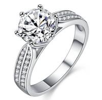 fabricantes de joyas extranjeras al por mayor-Nueva explosión de comercio exterior europea y estadounidense, anillos de la joyería, adornos femeninos de los amantes, anillo de bodas micro del zircon, fabricantes directo w