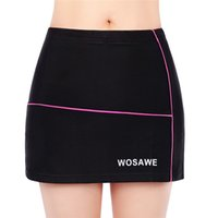 Wholesale Bicycle Skirts - WOSAWE Women Cycling Shorts Skirts Bicycle 4D Padded Gel Black Breathable Underpant Bike Underwear Quick Dry Shorts Skirts 2510027