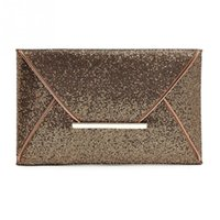Wholesale Gold Envelopes - Vintage Sequin Leather Handbags Hot Sale Women Envelope Clutches Ladies Banquet Party clutch High Capacity Purse