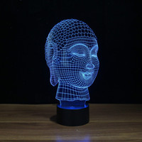 Wholesale Chinese Touch Lamps - Wholesale- Free Shipping, YJM-2929 Chinese 3d effect buddha shape touch light lamp with touch control portable Lamp