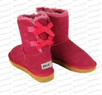Wholesale Womens Blue Snow Boots - 2016 Christmas gift Womens boots BAILEY BOW Boots winter Snow Boots for Women chestnut Chocolate gray black blue rose 9colors big size xmas