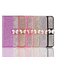 Wholesale Iphone Case Pearls Flip - For iPhone 7 6s Plus Cases Flip Wallet PU Leather Case Cover Glitter Pearl Diamond Phone Bag For iPhone SE 6 6S Plus