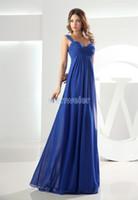 Wholesale Bridal Evening Prom Cocktail Bridesmaids - free shipping maxi long 2018 chiffon modest royal blue pregnant women maternity dresses sexy davids bridal bridesmaid dresses