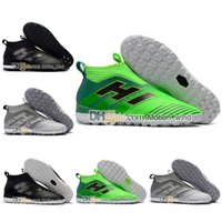 Дешевые высокие лодыжки футбольные сапоги Kids Youth Boys Soccer Shoes Women Men ACE 17 Purecontrol Tango TF IC Indoor Soccer Cleats