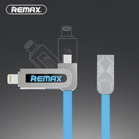 Wholesale Rc Shipping Line - Remax RC-067t Armor 2 in 1 data lines For Lightning&Micro USB 2.1A current fast charge for iPhone 7&iPad&xiaomi free shipping