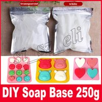 Wholesale Wholesale Soap Base - Transparent Soap & white Base DIY Handmade Raw Materials Base for Soap Making Melt And Pour Base 250g