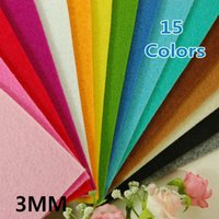 Wholesale Acrylic Sheets 3mm - 3MM Thick Felt Fabric - Pre-Cut 15 Sheets 30cm x 30cm - Mix Different color- 5 New Colors Adde