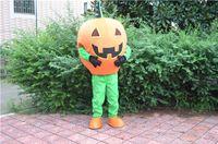 Wholesale Costume Halloween Mascotte - 2016 Halloween Pumpkin Man Mascot Costume Adult Size Custom Mascotte Costumes Fancy Dress free shipping