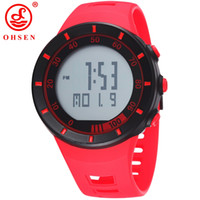 Wholesale Ohsen Military Watch - OHSEN Brand Men wholesale Digital Watch 2016 Unisex Style Sports Military Day Date Watch Calendar Function Alarm relogio masculino W004