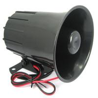 ev güvenlik alarm sistemi tel toptan satış-Toptan-DC 12 V Kablolu Loud Alarm Siren Korna Ev Güvenlik Koruma Sistemi Alarm Sistemleri Için Braket Ile Açık Güvenlik ev