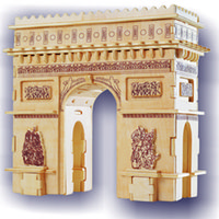 Wholesale Arc Products - Free shipping------ In 2016 year new's product Arc DE triomphe wooden simulation stereo DIY assembly model educational toys