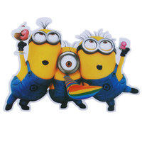 Wholesale Bumper Vehicle - Wholesale 1 Set Fun Minions Car Auto Decal Stickers Automobile Accessories Vehicle, for Car Bumper Window Sticker, the Whole Body, or Wall