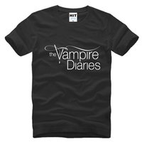 Wholesale Vampire T Shirt Mens - WISHCART The Vampire Diaries Print T shirt 2016 Fashion100% Cotton Custom Personalized Logo Mens T-shirt Tshirt