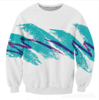Wholesale Jazz Neck - New Fashion Womens Mens 90s Jazz Solo Paper Cup Funny 3D Print Casual Sweatshirt Tops Plus Size WYS0025
