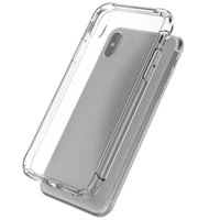 coussin d'enceinte achat en gros de-Pour iPhone 8 x Clear Case Air Cushion Antishock TPU Case Stereo Sound Speaker Antidust Transparent Cover pour iPhone 8 7 6 Plus