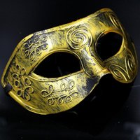 Wholesale Masquerade Mask Knight - Masquerade Masks Halloween Costumes Halloween Mask Half Face Party Masks Masquerade Knight Prince Masks Mardi Gras Gifts