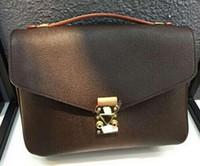 Wholesale Dresses Single Shoulder - Free shipping high quality genuine leather women's handbag pochette Metis shoulder bags crossbody bags M40780