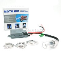 Wholesale Motor Xenon - Xenon Motorcycle Headlight HID H4 Motorbike Light BA20D Motor H6 fog lights for ktm exc cafe racer harley motorcycle accessories