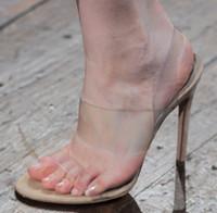 ingrosso stella trasparente sexy-2016 New European Fashion Week stella scarpe favoirt trasparente fresco sexy sandali col tacco alto moda donna scarpe da sera