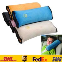 Wholesale Shoulder Belt Cushion For Kids - Baby Auto Pillow Car safety Belt Protect Shoulder Pad Adjust Vehicle Seat 5 Colors Belt cushion For Kids Children ZJ-P04