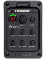 Wholesale Band Eq - Fishman Presys blend 301 Dual Mode Guitar Preamp EQ Tuner Piezo Pickup Equalizer System With Mic Beat Board Pickups