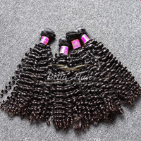 Wholesale Hair Dye Wholesale Cheap - Curly Hair Weave 4pcs lot Curly Brazilian Hair Unprocessed Can Be Dyed Hair extensions Cheap Brazilian Curly Weave Bella Hair