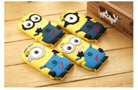 Wholesale Despicable S4 Case - For Samsung s4 s5 s6 edge s7 NOTE 4 5 3D Cute Minions Despicable Me2 Case Soft Silicone Cartoon Back Cover Smile Big Eye minions wholesale