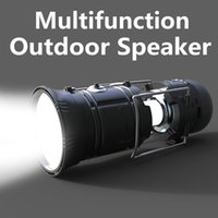 Wholesale Mp3 Usb Charge - Multifunction Outdoor Bluetooth Speaker Portable Wireless Bluetooth Speaker With Lantern And Torch Support TF Card FM Radio USB VS Charge 3