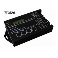 Wholesale Timed Led Dimmer - LED Time Dimmer RGB Controller TC420 DC12V 24V 5Channel Total Output 20A Common Anode Multi-function Programmable for led light