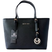 ingrosso sacchetto di cuoio grande di marca del modello-MICKY KEN borsa da donna di marca semplice borsa a tracolla moda modello PU shopping bag in pelle borsa a tracolla grande