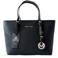einfache leder schultertasche groihandel-MICKY KEN Marke Damen Tasche einfache Mode Handtasche Kreuz Muster PU Leder Einkaufstasche große Umhängetasche