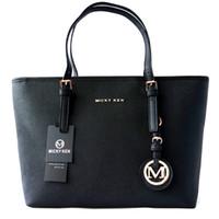 простая кожаная сумка оптовых-MICKY KEN бренд дамы сумка простой моды сумки крест шаблон PU кожаный хозяйственный мешок большой мешок плеча