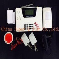 Wholesale Manual Home Alarm System - LCD GSM&PSTN Security Home Alarm System Two Antenna Support English and Russia Manual Big Discount Free Shipping