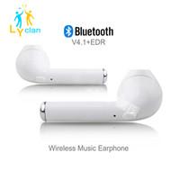 Wholesale Mini Usb Ear - 2017 Mini HBQ I7 Single Bluetooth Earbud Handfree Headphone Earphone Bluetooth Headset With Mic Stereo Headphones For Iphone S6 7 Samsung