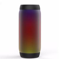 мини-динамик для apple оптовых-Wholesale- EACOOL Colorful Waterproof LED Portable Bluetooth Speaker BQ-615 Wireless Super Bass Mini Speaker with Flashing Lights FM