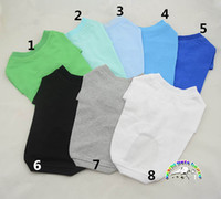 Wholesale Dachshund Clothes - Dogs pets clothing blank dog shirts 8 colors cotton XXS dachshund dog clothes kitten clothes dog apparel