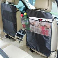 kostenlose baby autositzbezüge großhandel-50 X Autositz Rückenprotektor Anti-Kratz-Abdeckung Baby Kind Kick Anti Schmutzige Matte Wasserdicht Freies Verschiffen