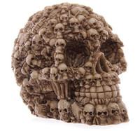 modelo de tamaño natural esqueleto al por mayor-Halloween 1: 1 humano modelo de cráneo tamaño de la vida resina cráneo modelo modelo de clase de arte enseñanza del esqueleto humano delicado modelo B176